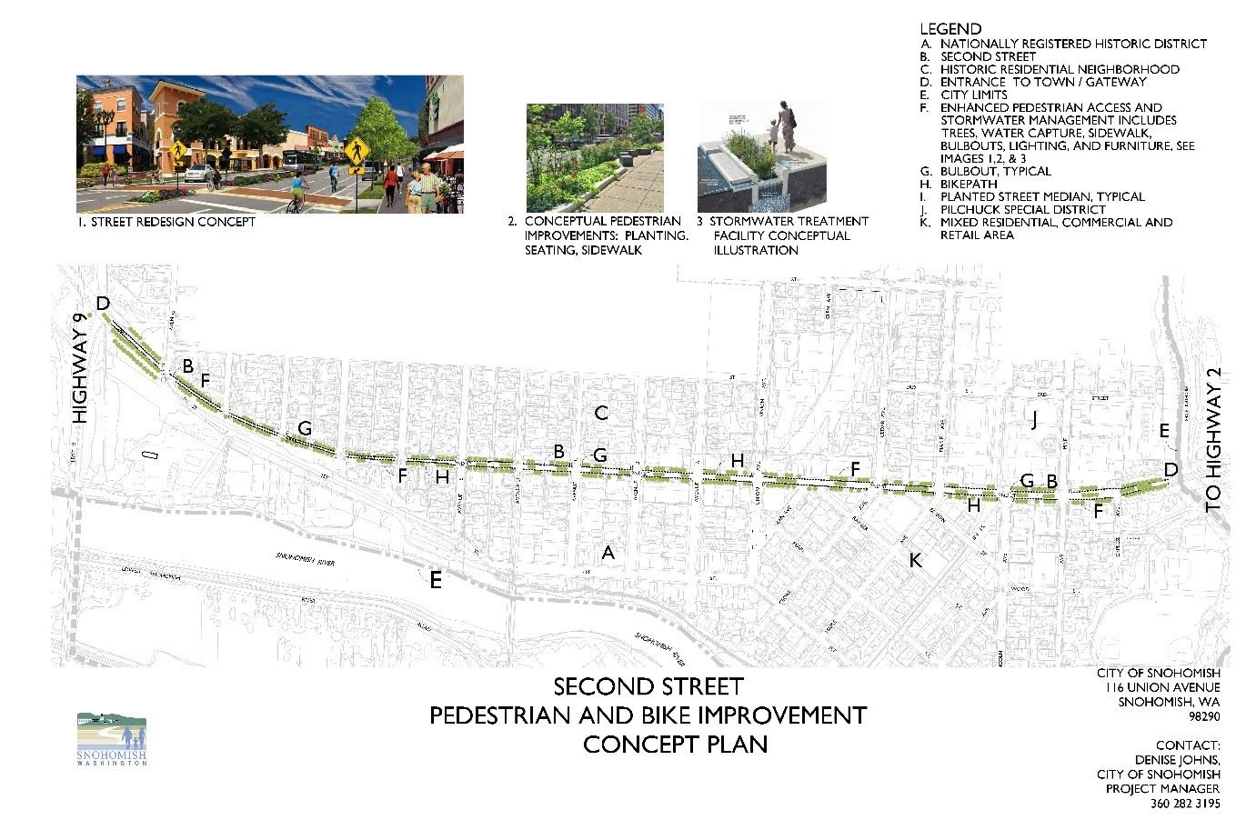 Second street pedestrian and bike improvement plan