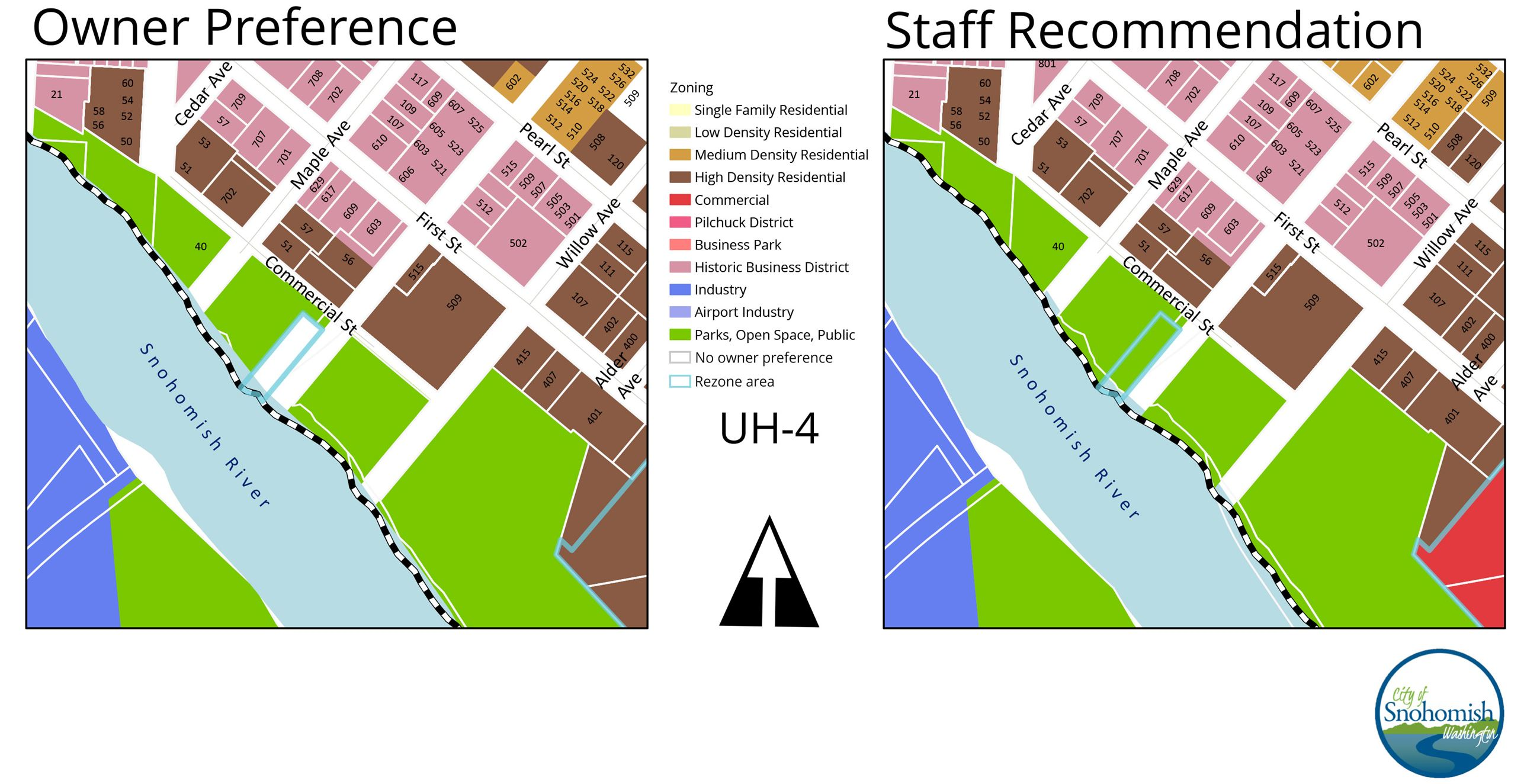 UH 4 Rezone Options