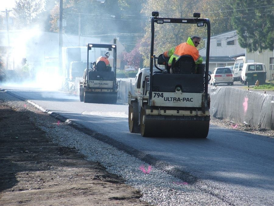 Asphalt Paving Machines at work